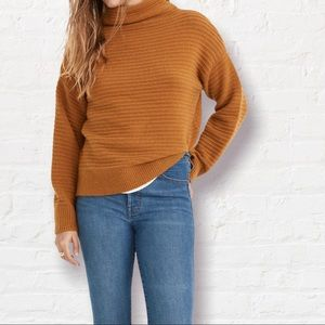 Madewell Belmont Mock Neck Cute Sweater New Large